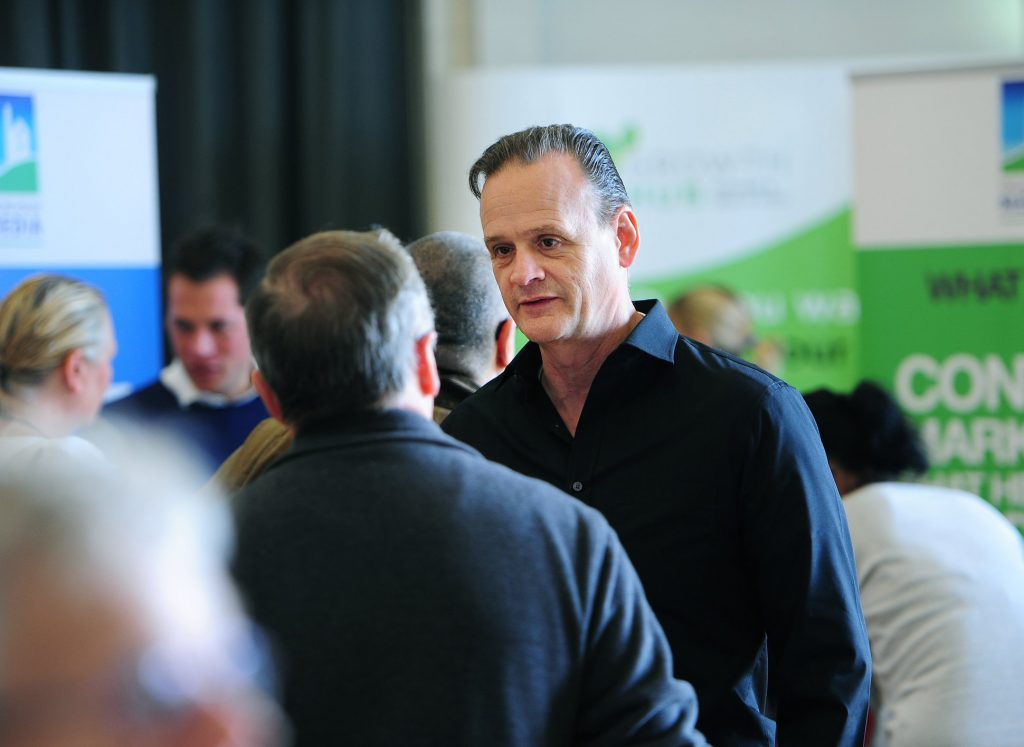 Nick at an event talking about Focus from the Outset